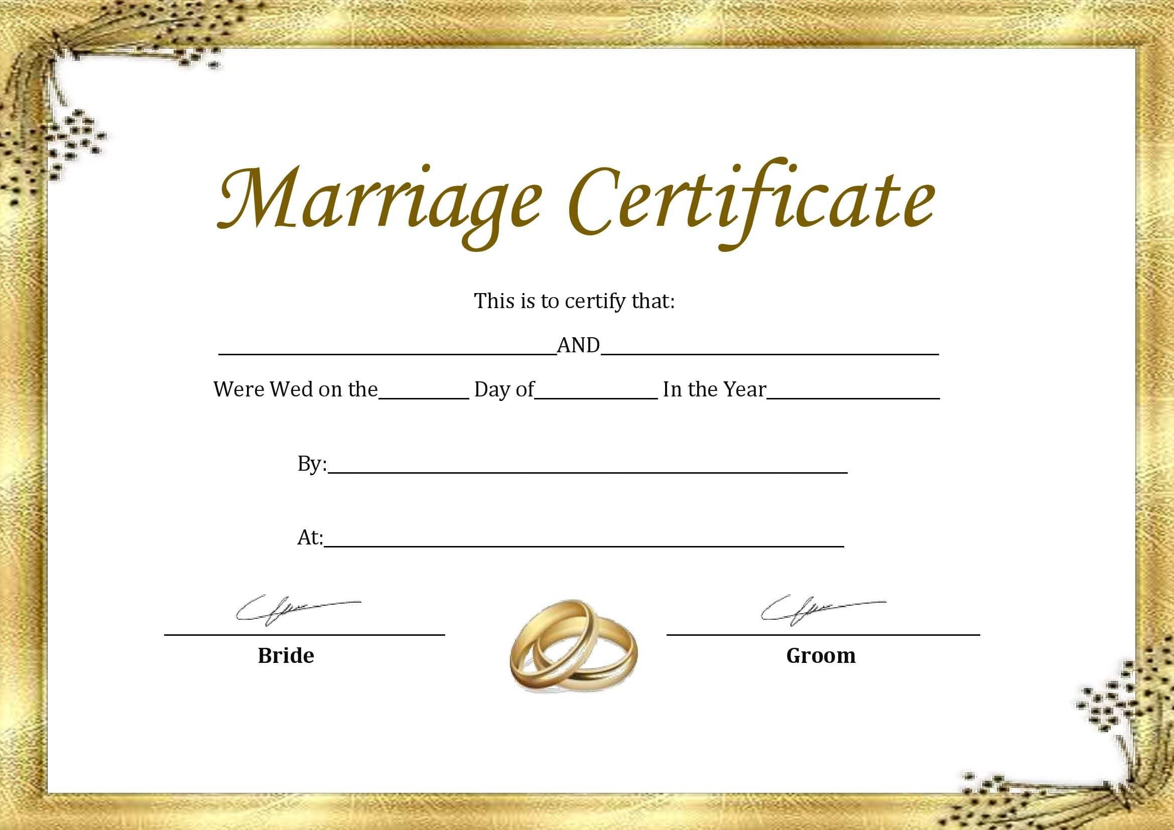 Casamento Civil Certidão De Casamento Em Branco Para Imprimir