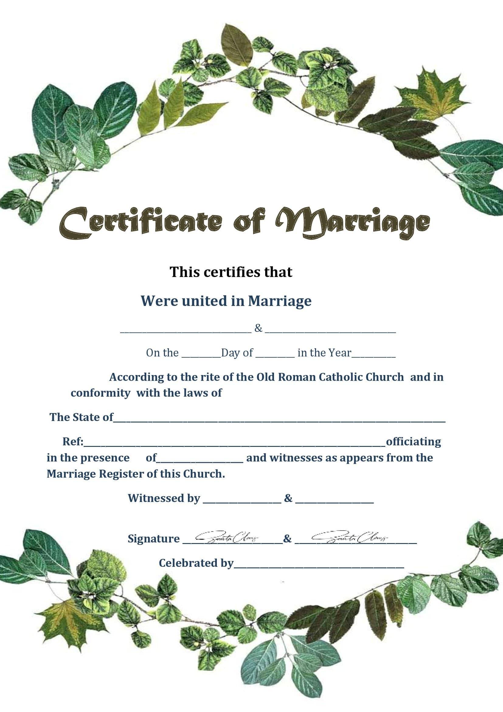 Casamento Civil Certidão De Casamento Online Fake
