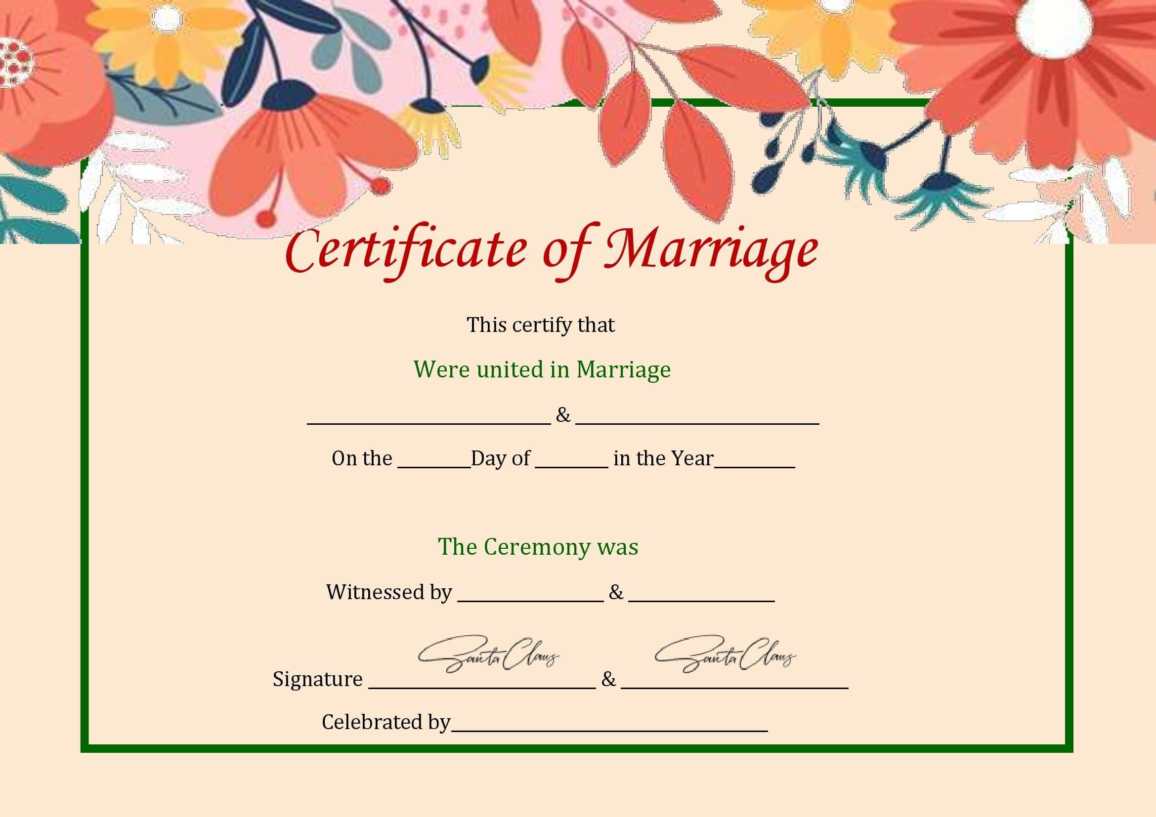 Certidão De Casamento Em Branco No Word