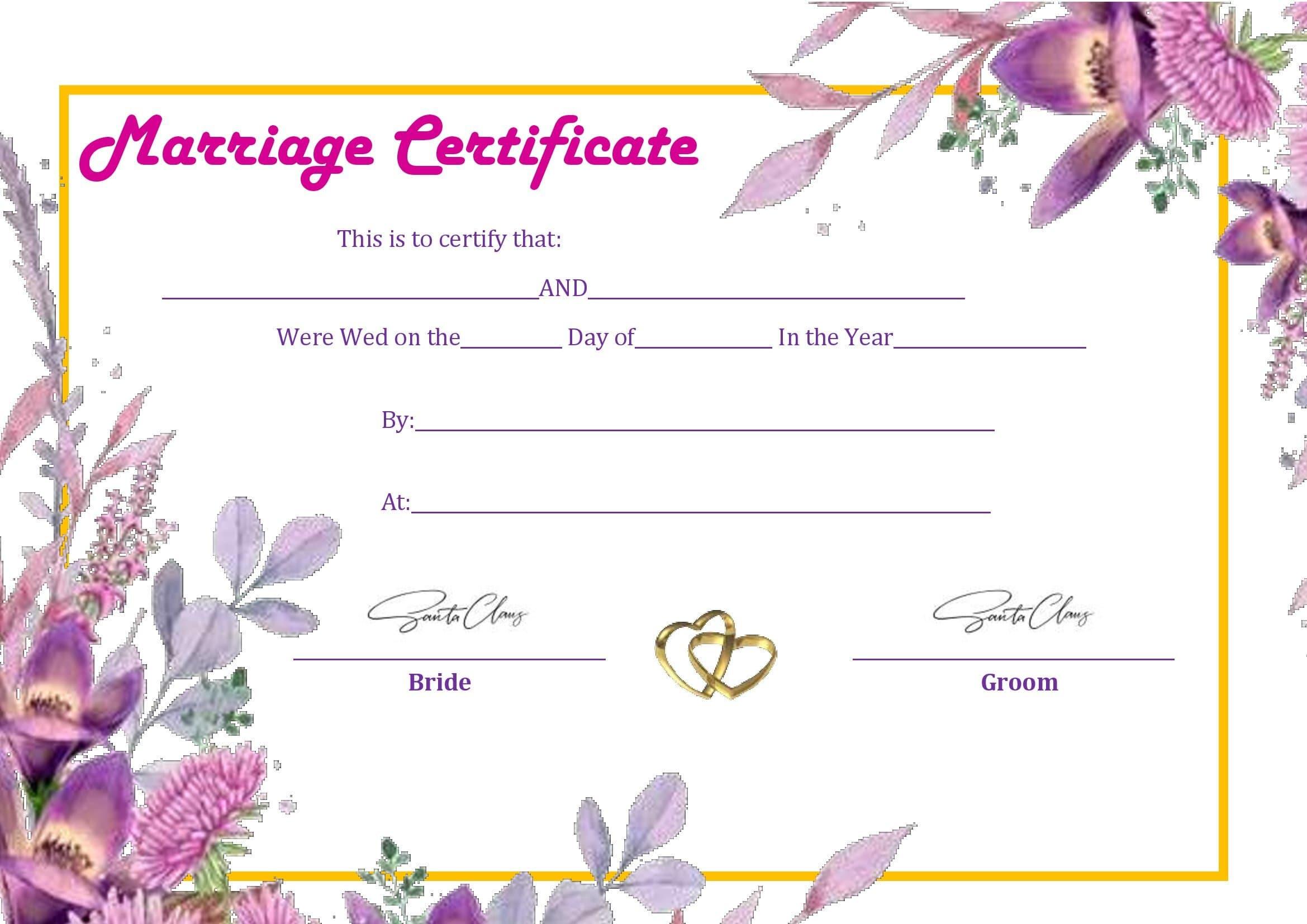 Certidão De Casamento Em Branco Para Preencher No Word