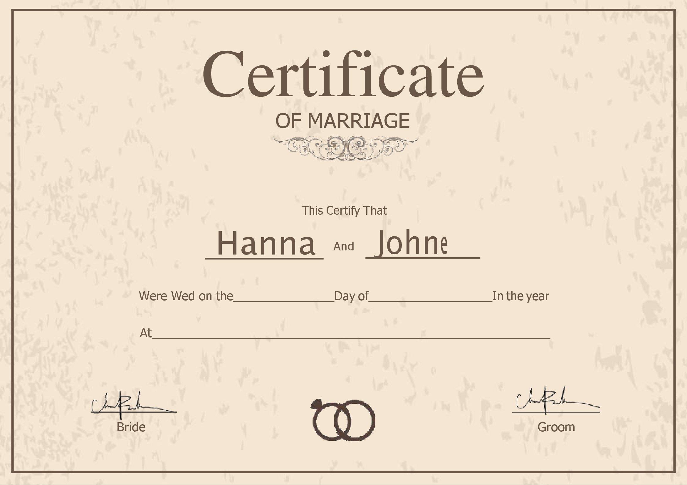 Certidão De Casamento Em Branco Para Preencher Word