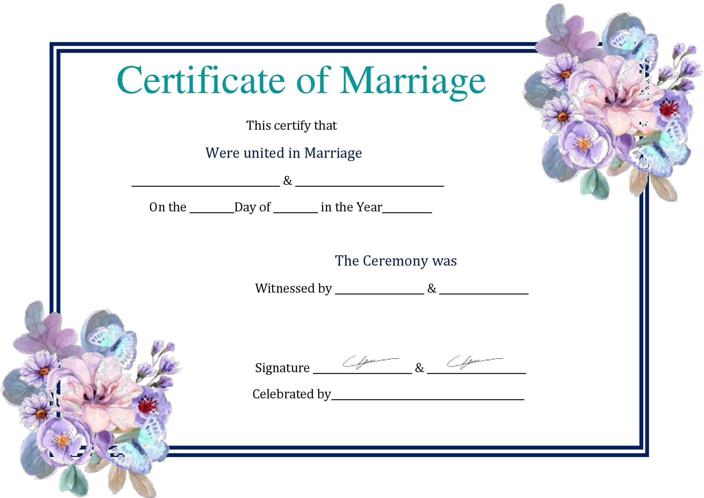 Certidão De Casamento Em Branco Para Preencher