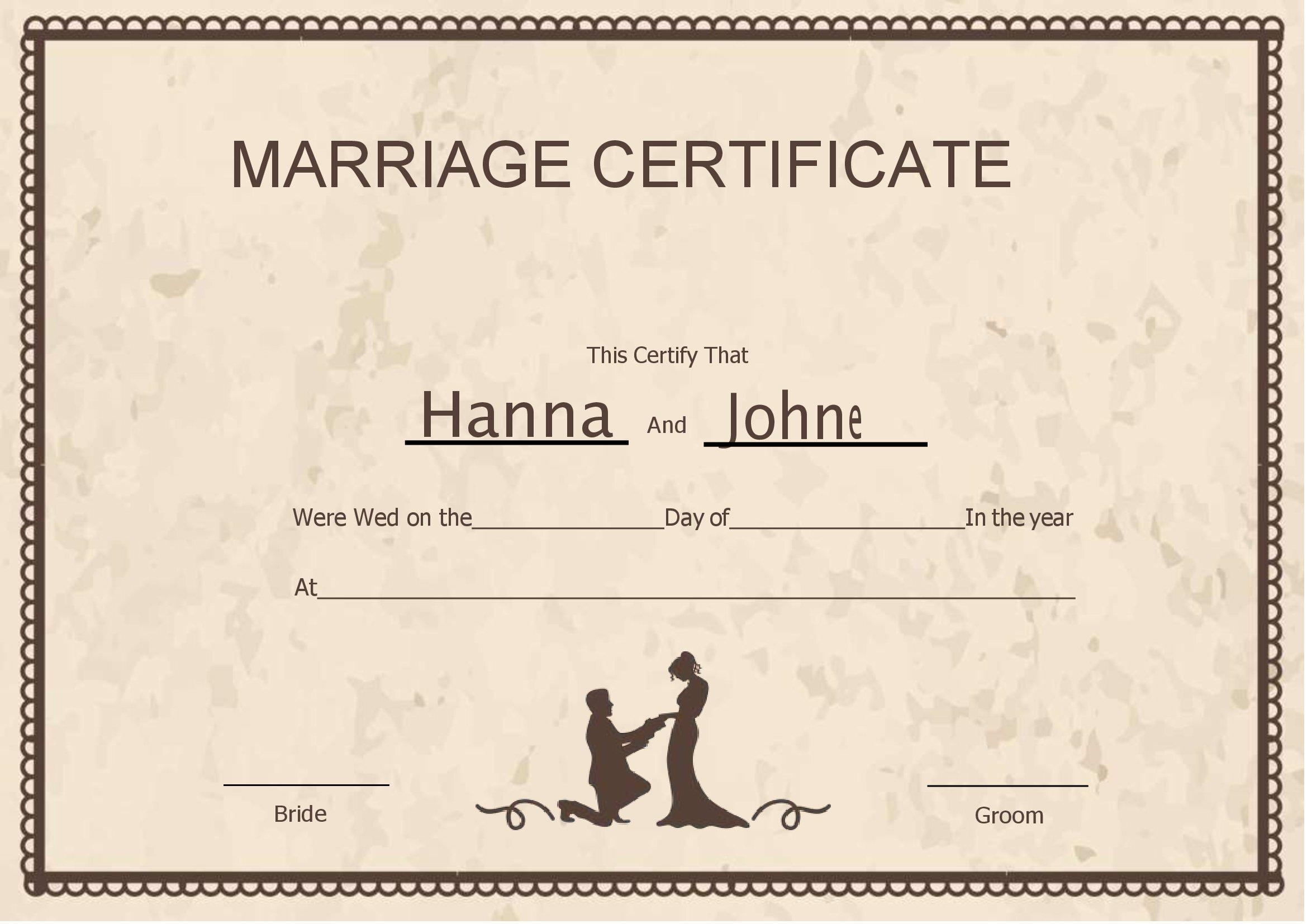 Certidão De Casamento No Word Em Branco