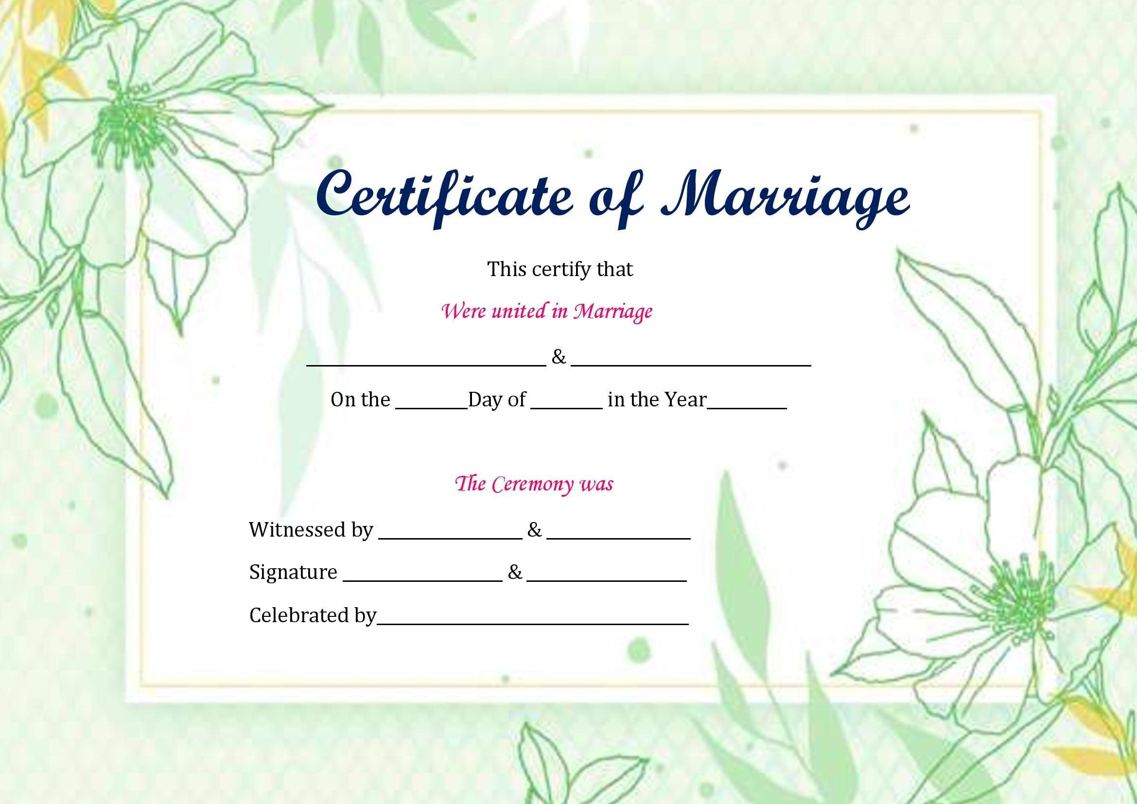Certidão De Casamento No Word Gratis
