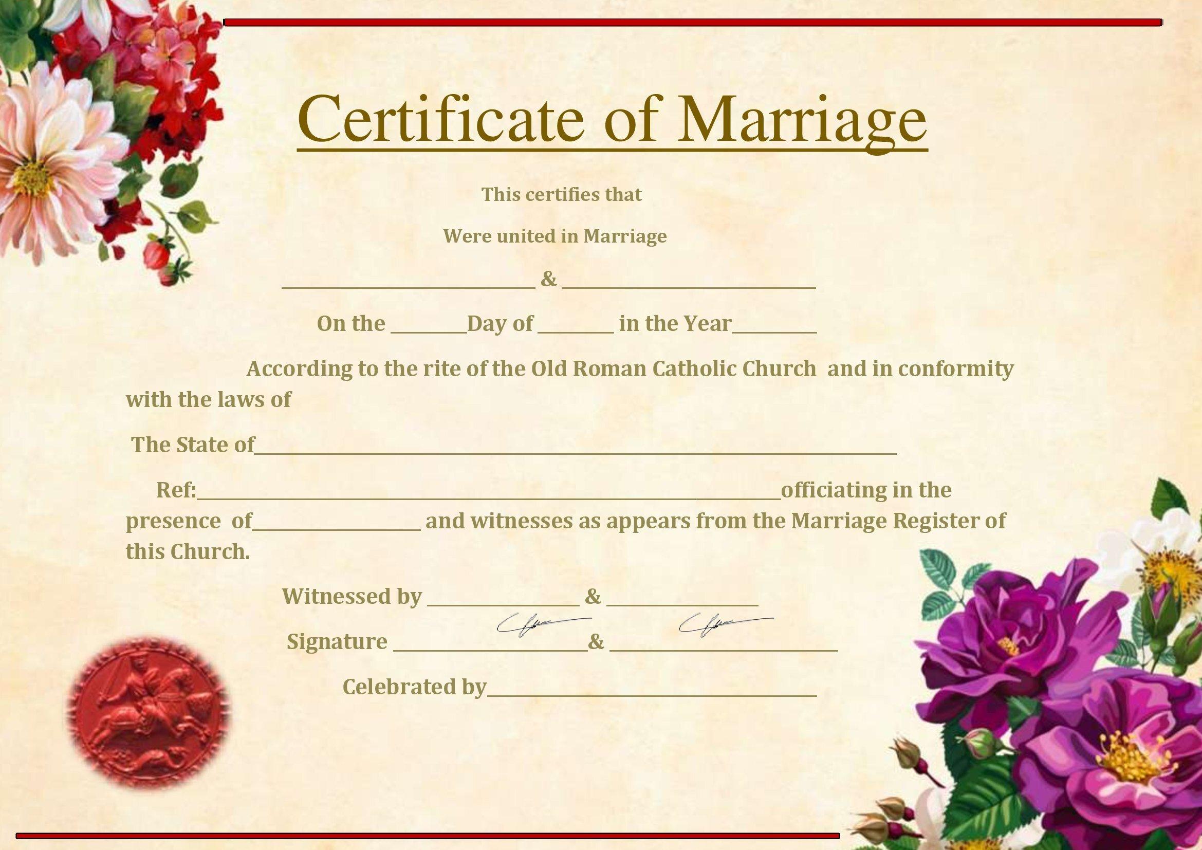 Certidão De Casamento Online No Word