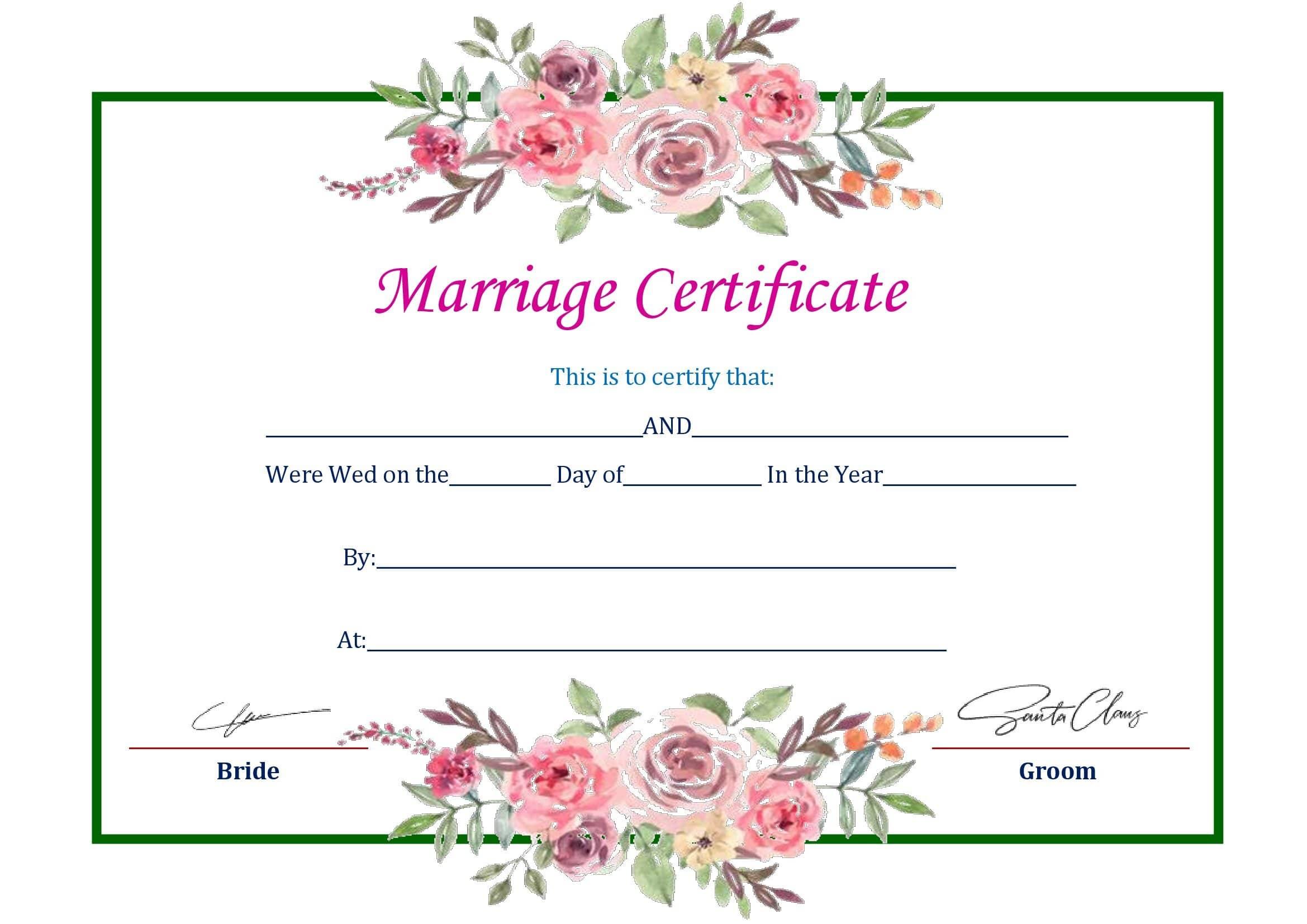 Certidão De Casamento Para Imprimir E Preencher