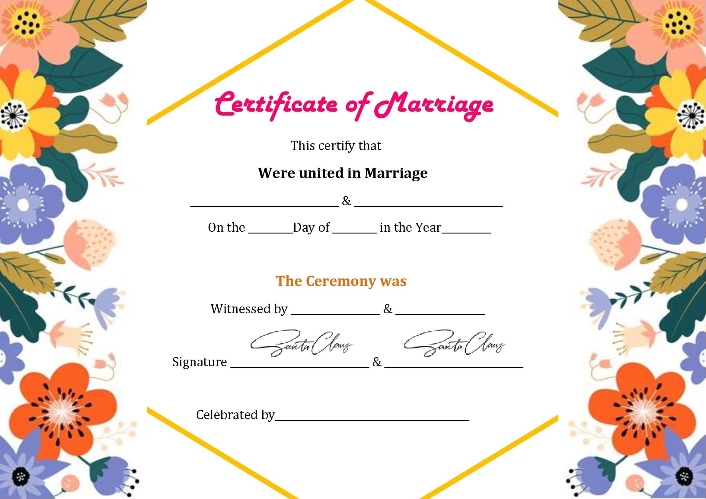 Certidão De Casamento Para Preencher No Word
