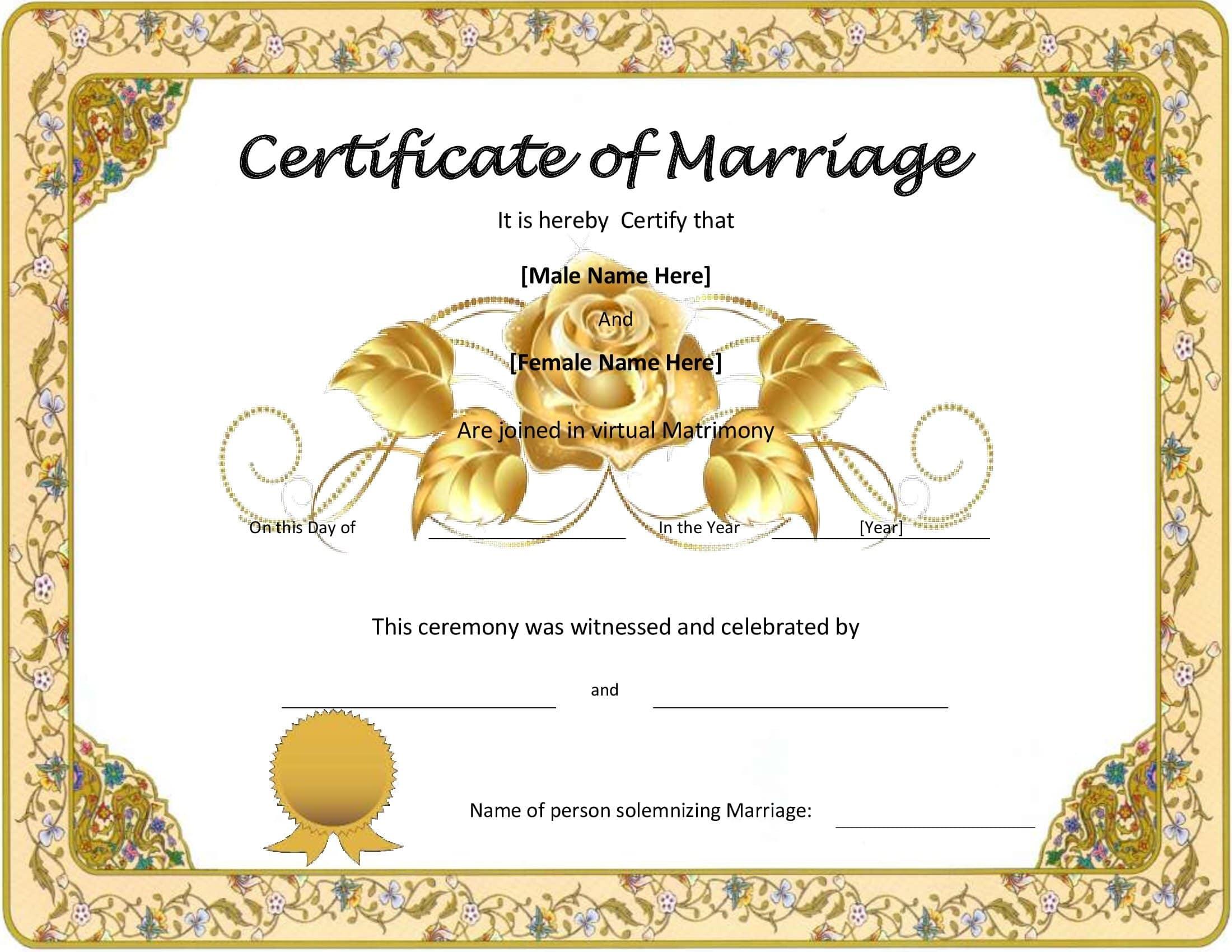 Certidão De Casamento Preenchida Exemplo