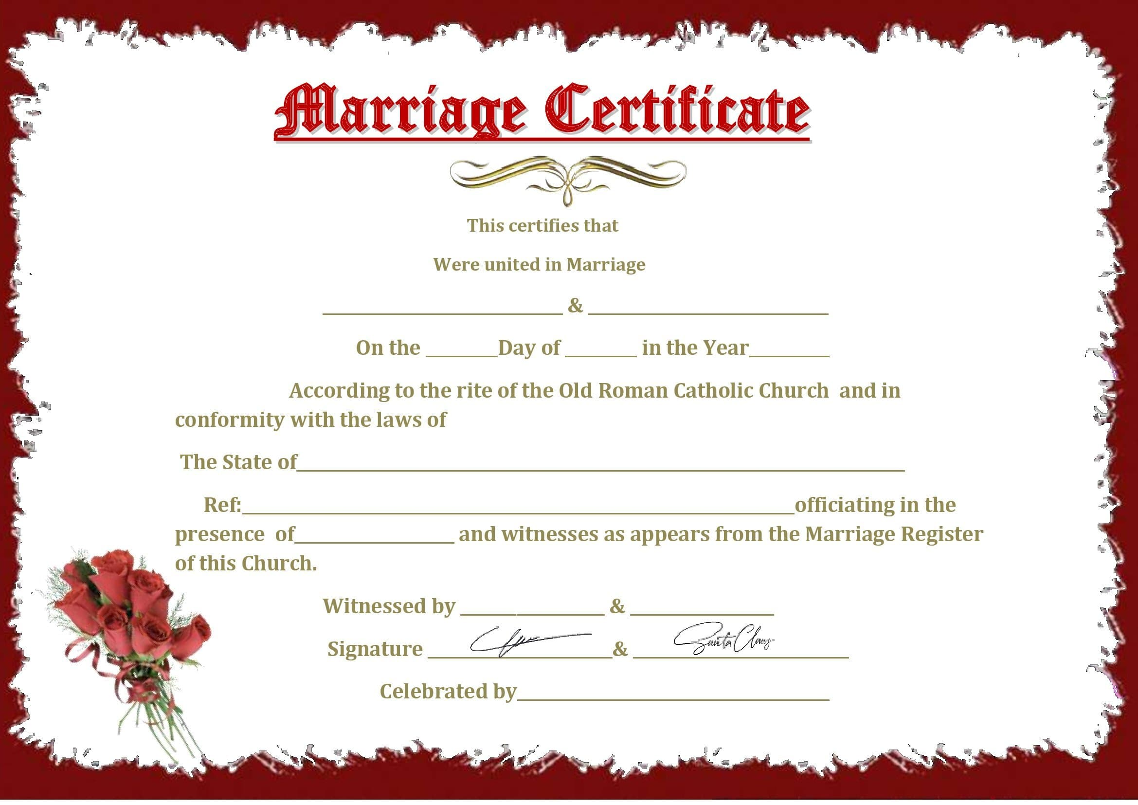 Certidão De Casamento Word