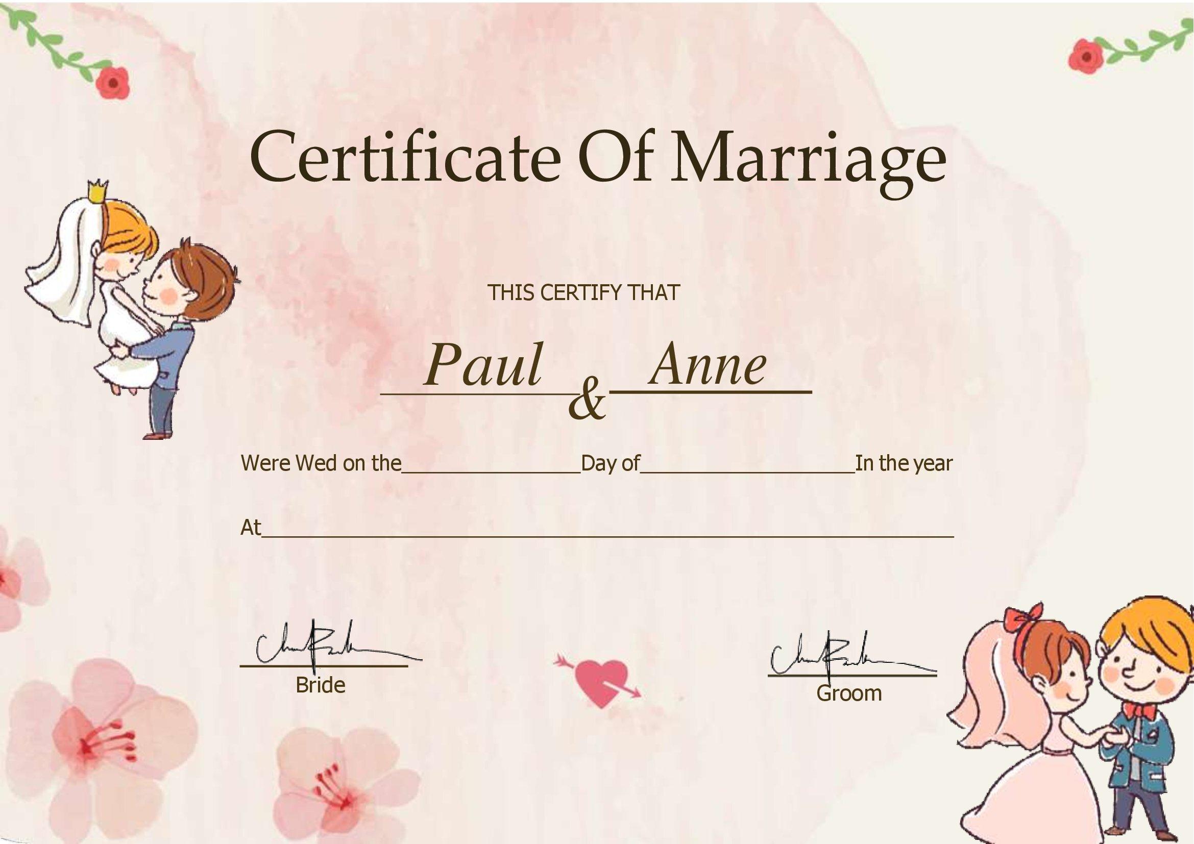 DOC Certidão De Casamento Para Editar No Word