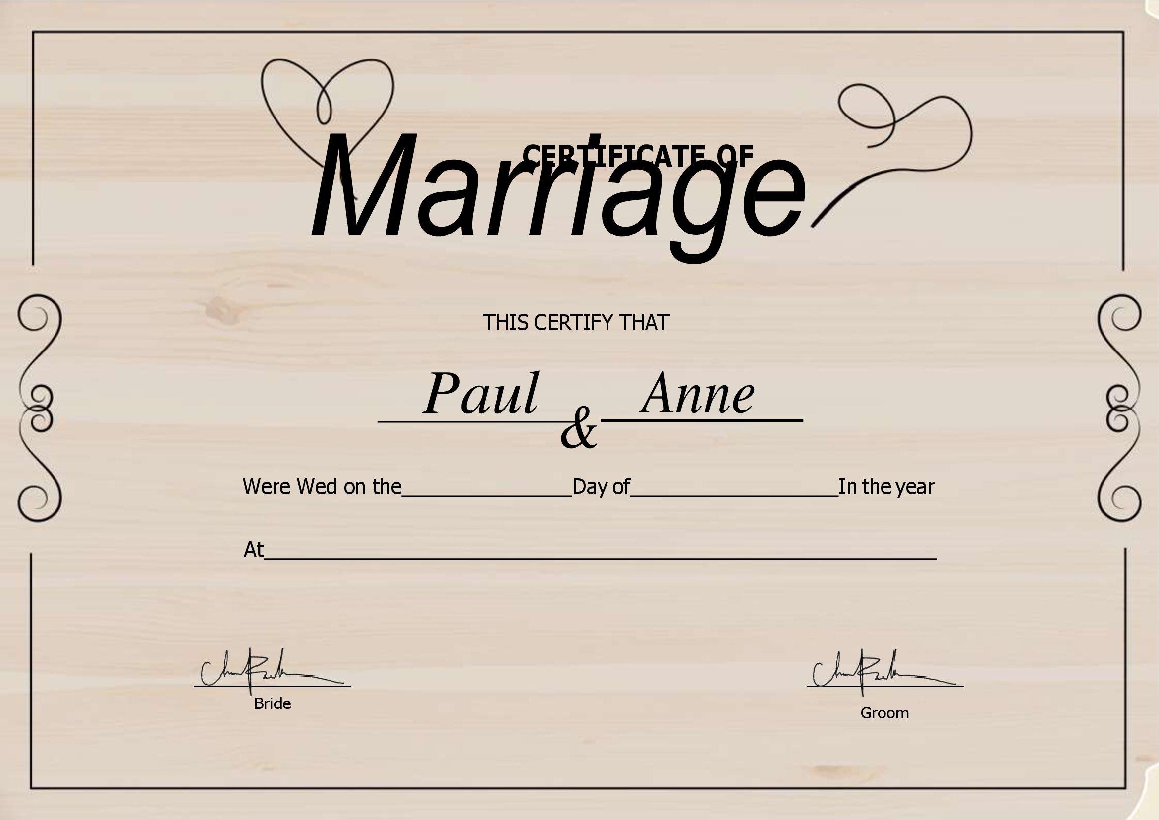 Namorado Certidão De Casamento Para Editar No Word