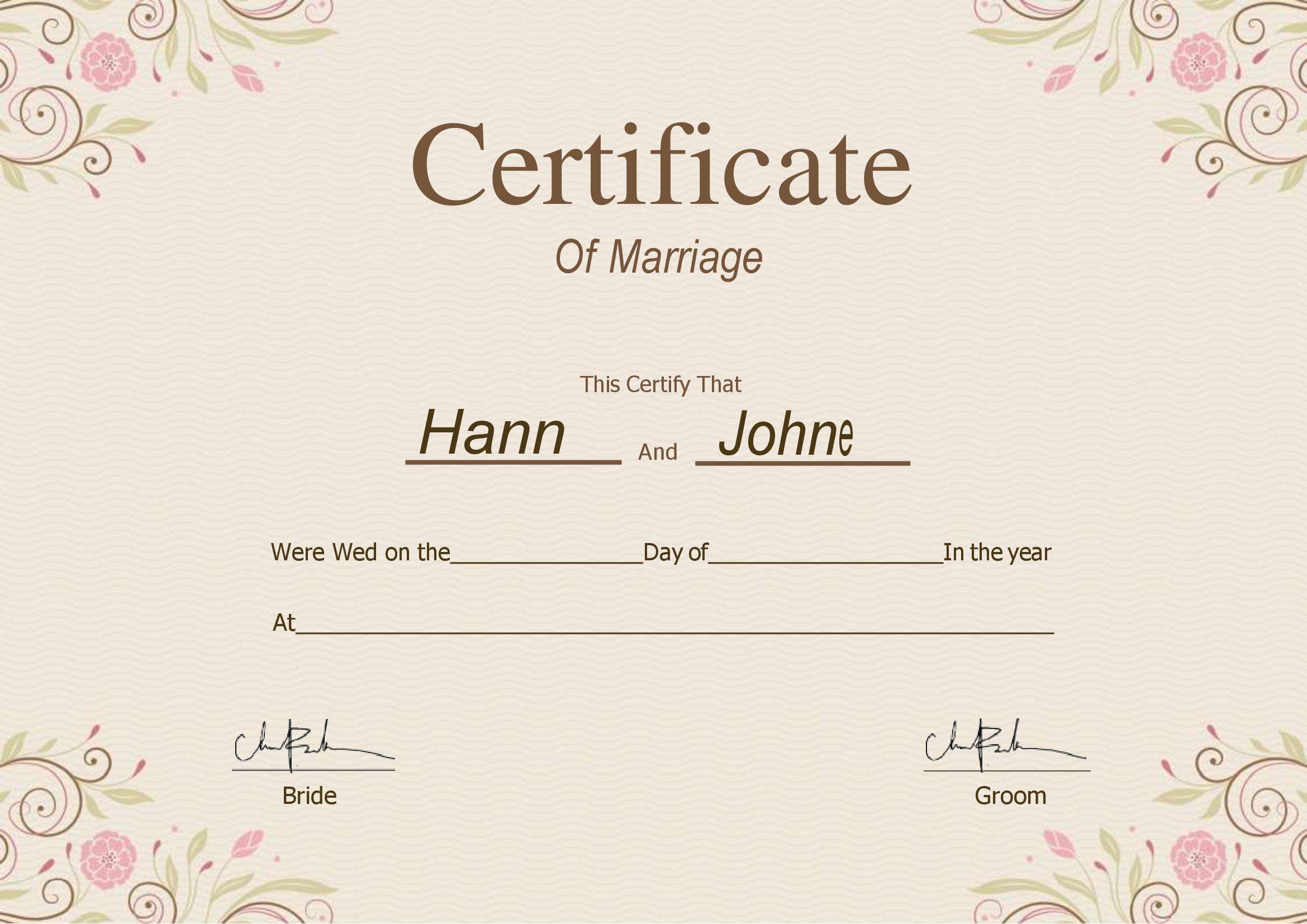 União Estável Certidão De Casamento Para Editar No Word